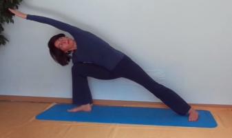 yoga online zyklus mit utthita parsvakonasana  dhyana