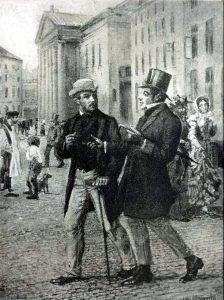 Kierkegaard, gezeichnet von Janssen_dogmatics.wordpress.com
